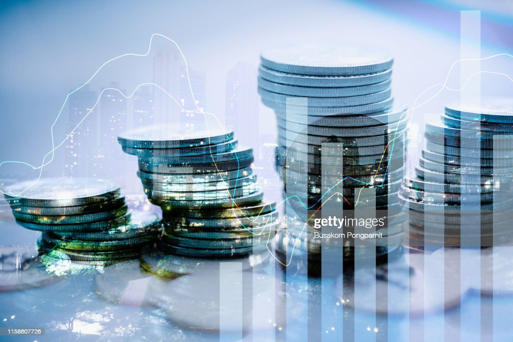 Stock market financial exchange and Trading graph technology concept : Stock-Foto