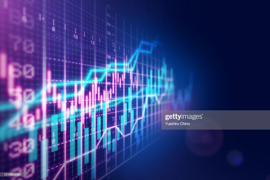 Stock market financial growth chart : Stock Photo