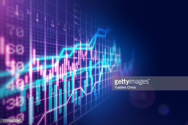 stock market financial growth chart - economy stock pictures, royalty-free photos & images