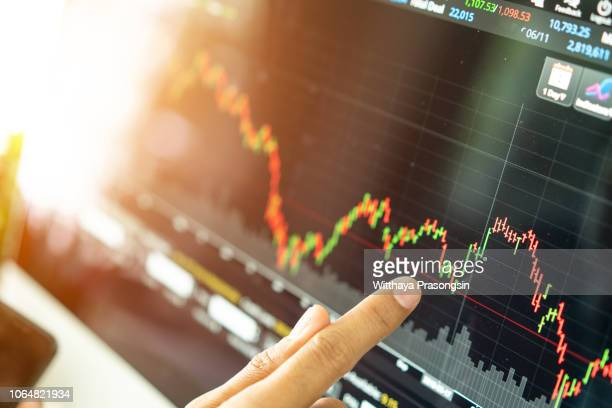 stock market graph chart. the digital information for forex trading market. - financial technology bildbanksfoton och bilder