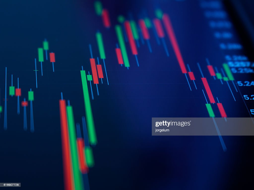 Stock market graph : Stock Photo