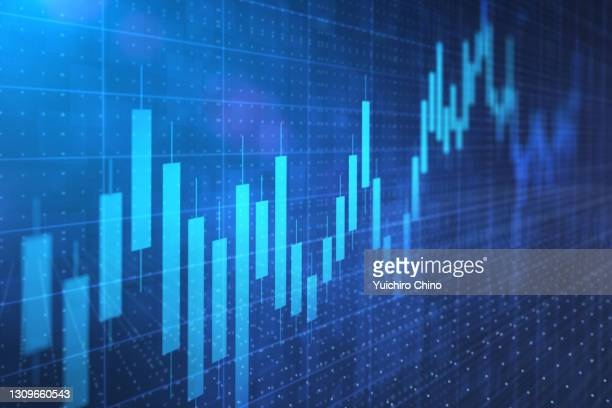 stock market investment and anxious future - stock price stock pictures, royalty-free photos & images