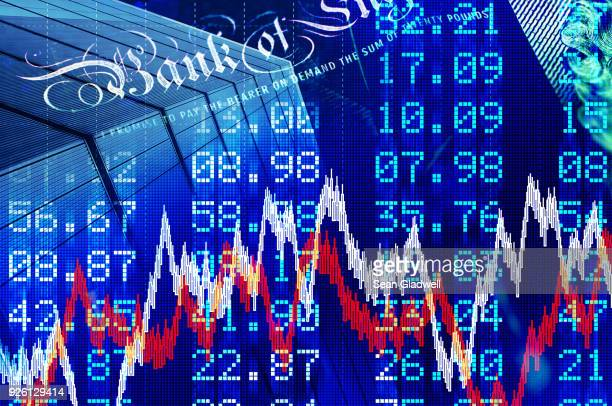 stock market montage - central bank stock pictures, royalty-free photos & images