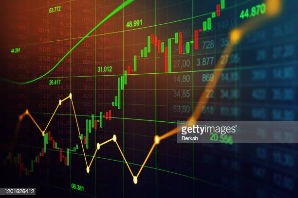 stock market or forex trading graph in graphic concept suitable for financial investment - börse stock-fotos und bilder