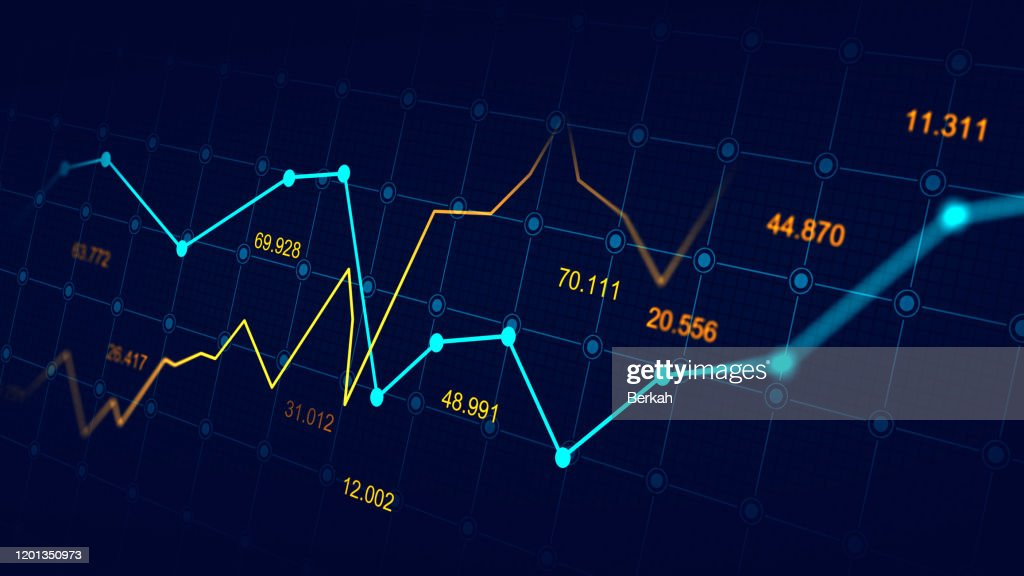 Stock market or forex trading graph : Stock-Foto