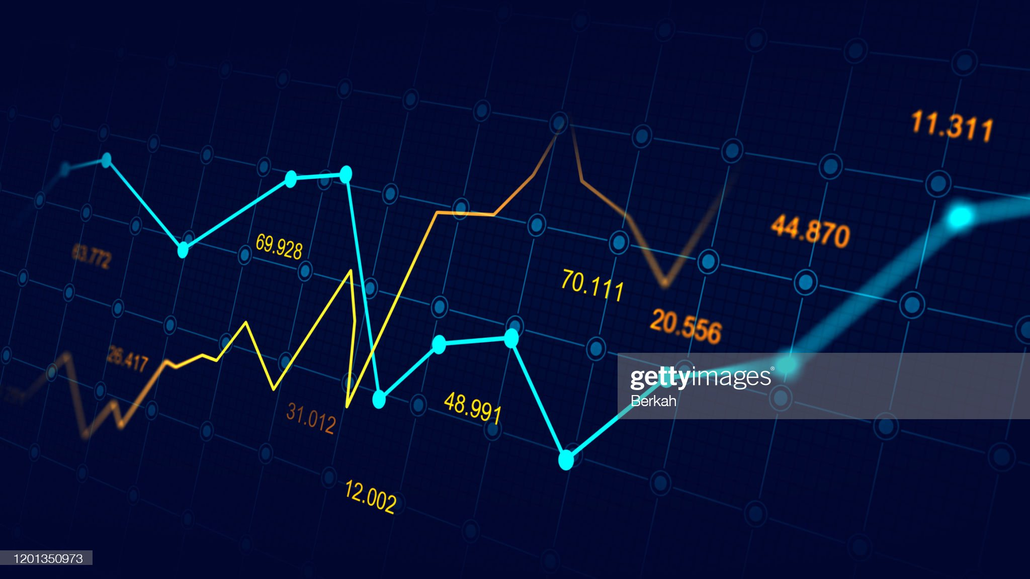 Stock market or forex trading graph : Stockfoto