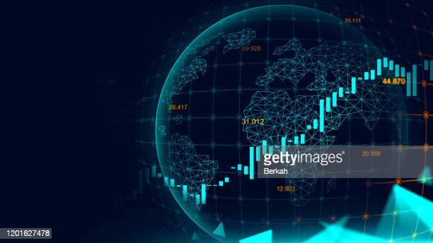 stock market or forex trading graph - stock exchange stock-fotos und bilder