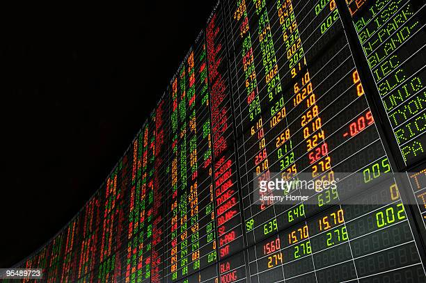 stock market prices - stock exchange stock-fotos und bilder