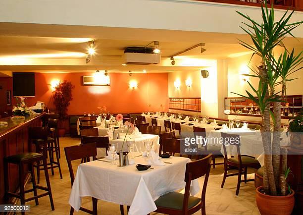 Stock Photo of an Empty Restaurant