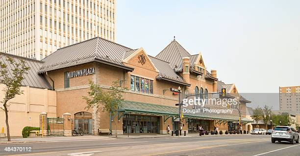 Stock Photo of Downtown Saskatoon With Midtown Entrance
