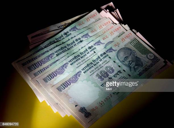 Stock photo of Indian Rupees on January 7 2010 in New Delhi India