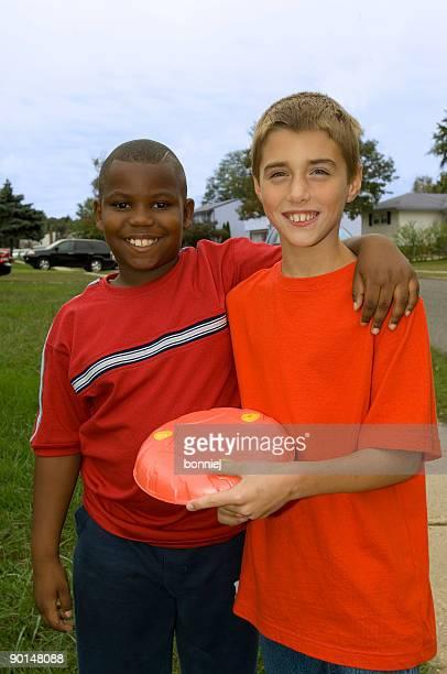 Stock Photo of Two Neighborhood Boys