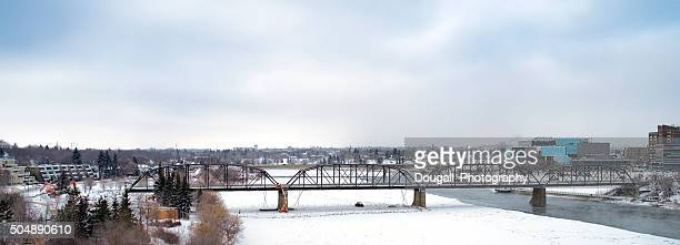 Stock Photo Saskatoon Traffic Bridge Demolition
