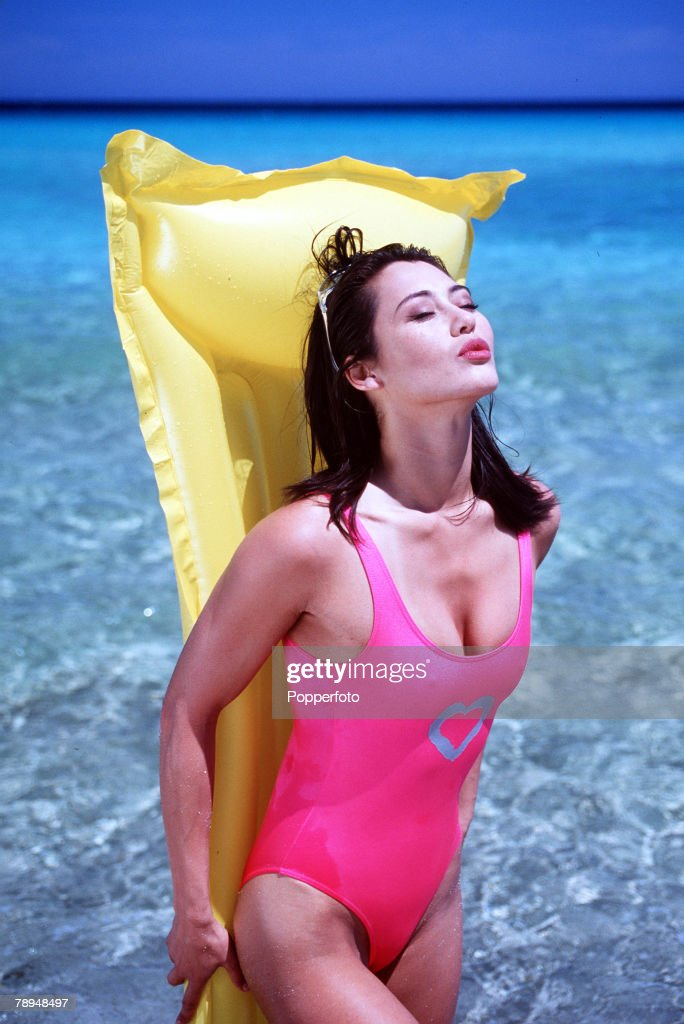 Stock Photography Young Glamourous Woman Wearing Bright Pink