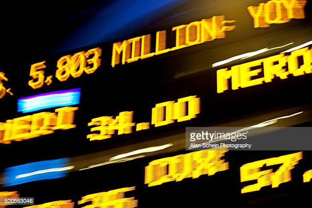 Stock Prices Moving Across Trading Board
