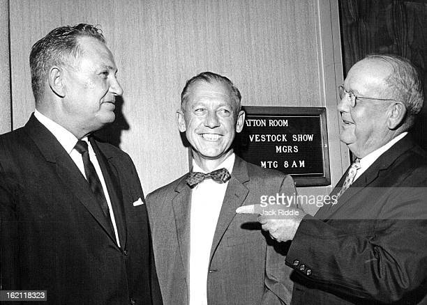 JUL 22 1964 Stock Show Managers Elect Simms Willard Simms center general manager of Denver's National Western Stock Show was elected president of the...