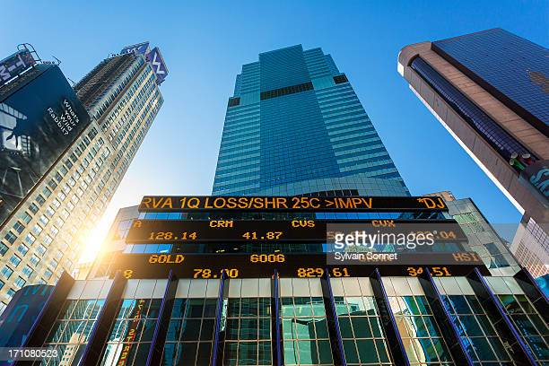 Stock ticker at Morgan Stanley Building,