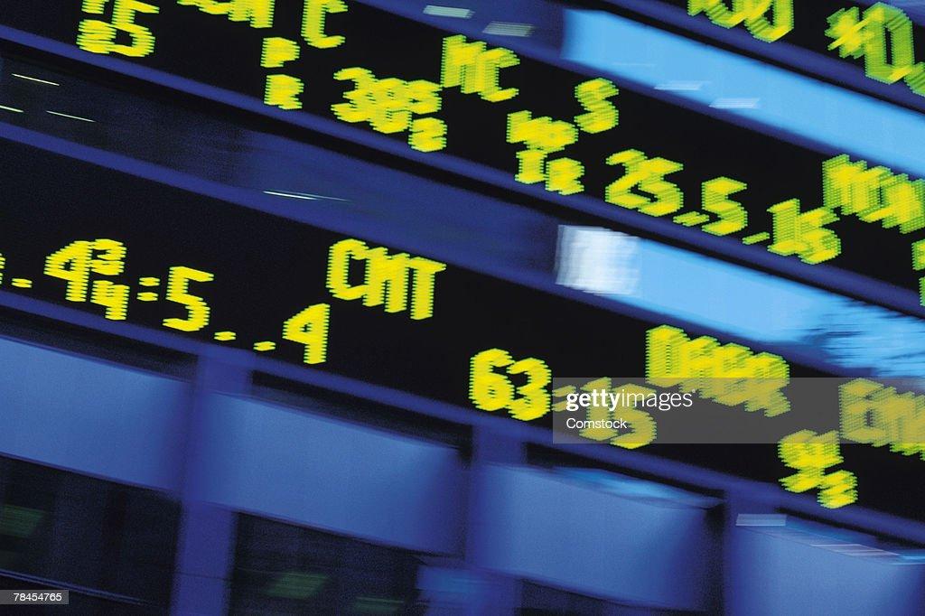 Stock ticker : Stock Photo