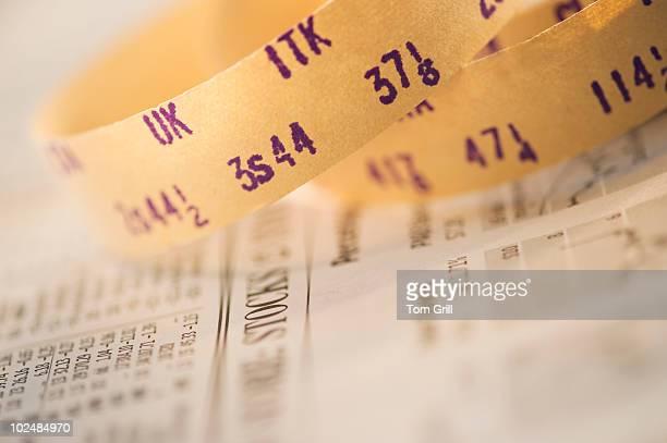 Stock ticker tape