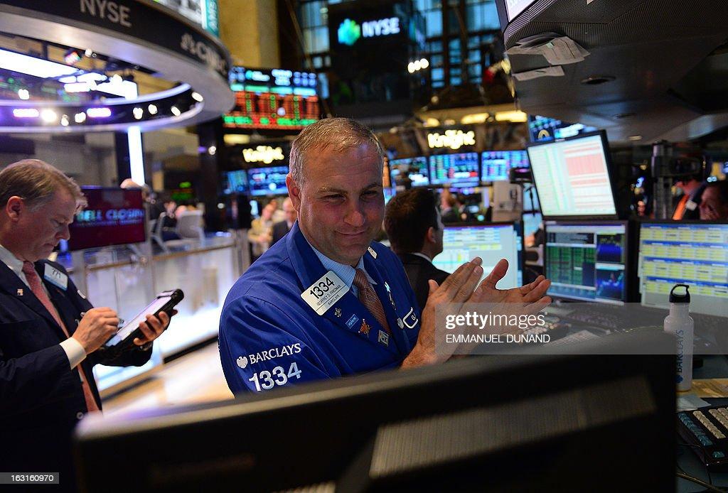 US-STOCKS-DOW JONES-RECORD : News Photo