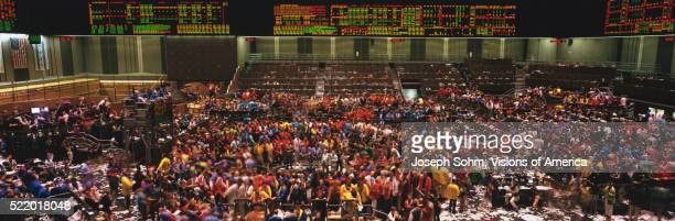 Stock Traders in the Chicago Board of Trade Building