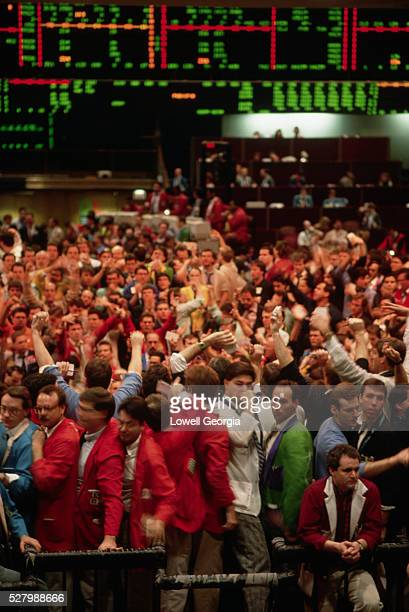Stock Traders on Trading Floor