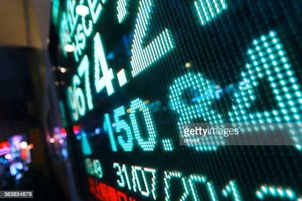 Stock trading display screen board