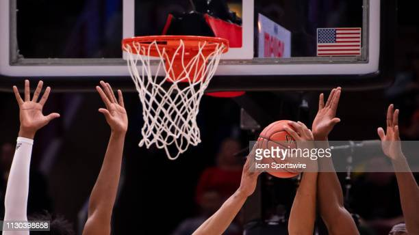 A stock view of basketball during a Big Ten Tournament game between the Nebraska Cornhuskers and the Rutgers Scarlet Knights on March 13 at the...