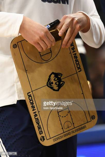 A stock view of the Connecticut Huskies' game board during a game between the Connecticut Huskies and the DePaul Blue Demons on December 8 at the...
