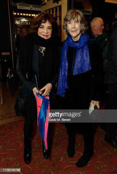 Stockard Channing and Eileen Atkins attend the press night performance of 'Ian McKellen On Stage' a special one man show celebrating his 80th...