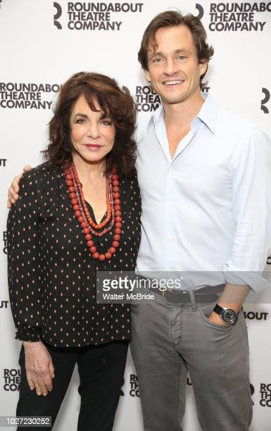Stockard Channing and Hugh Dancy attend the photo call for the Roundabout Theatre Company Production of 'Apologia' on September 5 2018 at the...