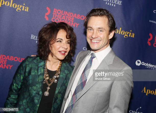 Stockard Channing and Hugh Dancy pose at the opening night after party for the Roundabout Theater Company play 'Apologia' at Remi on October 16 2018...