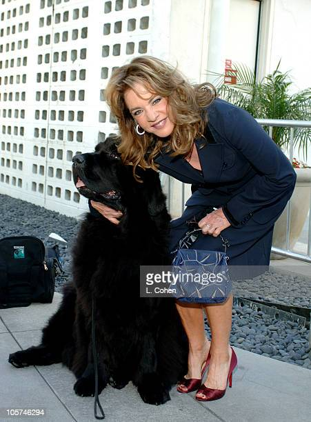Stockard Channing and Katie the dog during 'Must Love Dogs' Premiere Red Carpet at Cinerama Dome in Los Angeles California United States