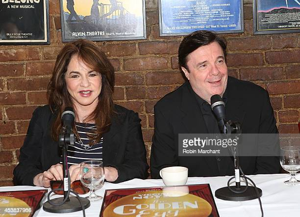 """Stockard Channing and Nathan Lane attend the """"It's Only A Play"""" Cast Photocall at Joe Allen Restaurant on August 19, 2014 in New York City."""