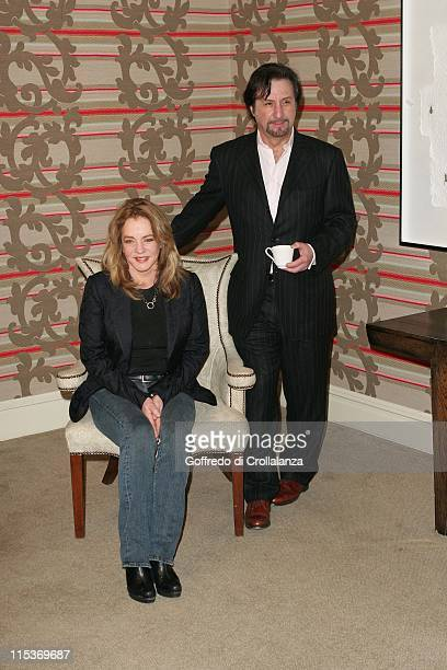 Stockard Channing and Ron Silver during 'Red Mercury' Photocall at Covent Garden Hotel in London England Great Britain