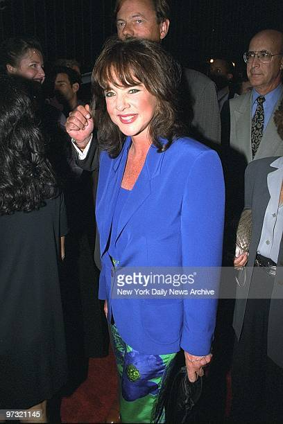 Stockard Channing arrives at the Ziegfeld Theater for the premiere of To Wong Foo Thanks for Everything Julie Newmar