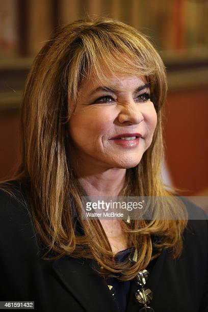 Stockard Channing attend the media day for the new cast of the Broadway hit 'It's Only A Play' at Sardi's Restaurant on January 13 2015 in New York...