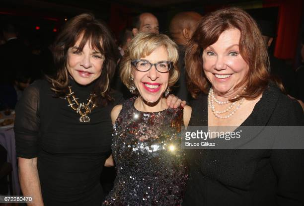 Stockard Channing Jackie Hoffman and Marsha Mason pose at the opening night after party for the new musical 'Charlie and The Chocolate Factory' on...