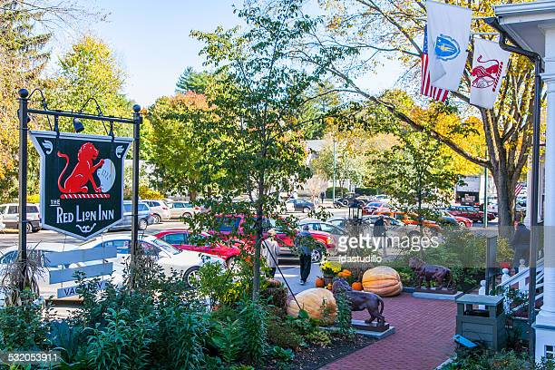 stockbridge, massachusetts - downtown - massachusetts stock pictures, royalty-free photos & images