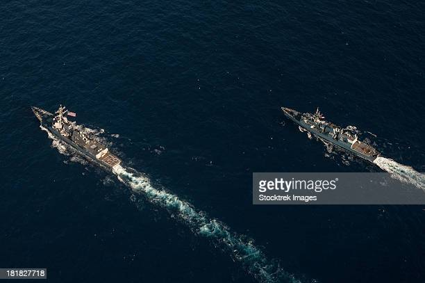USS Stockdale and the Canadian frigate HMCS Regina.