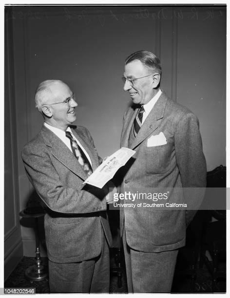 200000 stockholder in Bank of America 28 January 1952 R W Dalton A J Gock