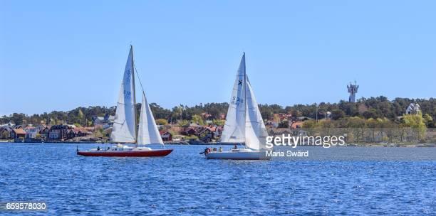Stockholm Archipelago - Sandhamn with Sailboats