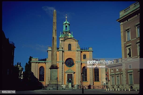 Stockholm Cathedral and Obelisk Monument