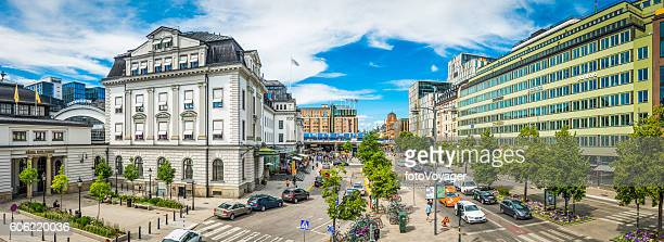 Stockholm Central Station city centre Vasagatan traffic panorama Sweden