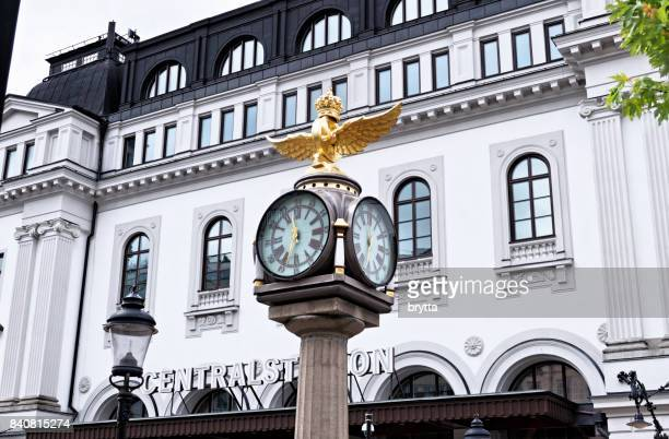 Stockholm Central Station with clock