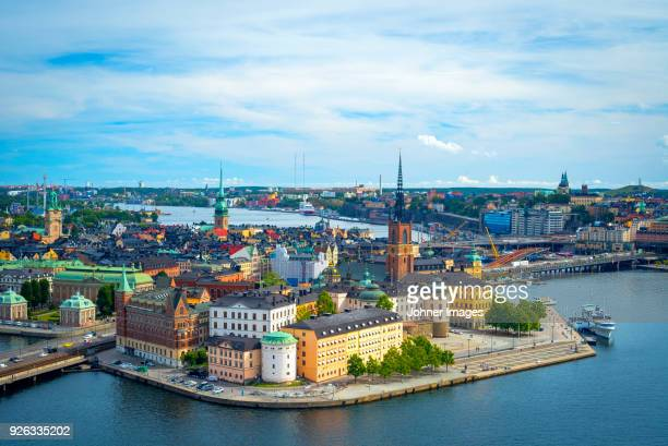stockholm cityscape - stockholm stock pictures, royalty-free photos & images