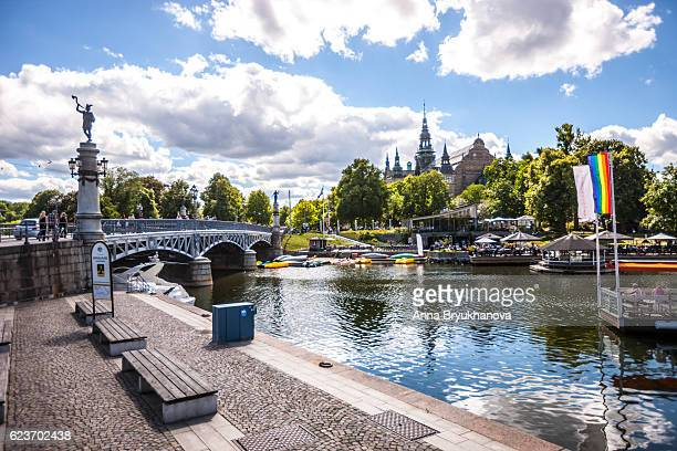 stockholm cityscape, sweden - djurgarden stock pictures, royalty-free photos & images