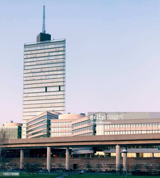 Stockholm: Kista Science Tower on Winter Afternoon before Sunset.