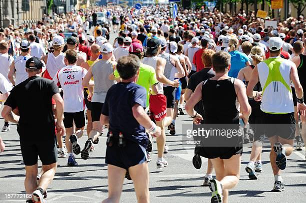 stockholm marathon - marathon stock pictures, royalty-free photos & images