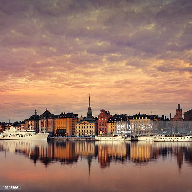 stockholm old town - stockholm stock pictures, royalty-free photos & images
